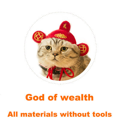 God of wealth Cat headgear