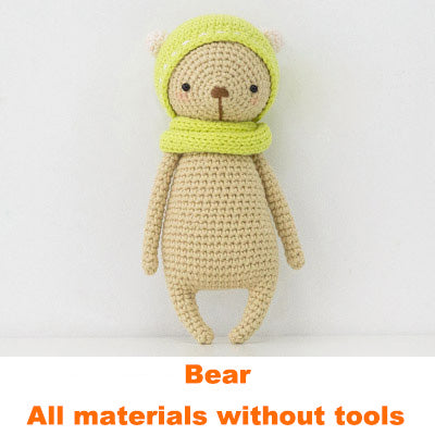 Bear doll hand-knitted