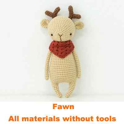 Fawn doll hand-knitted woolen