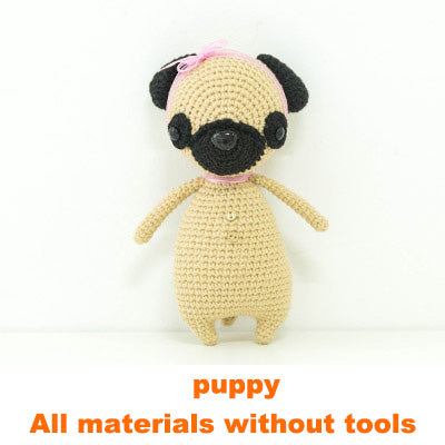 Puppy doll hand-knitted