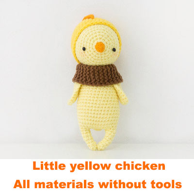 Chick doll hand-knitted