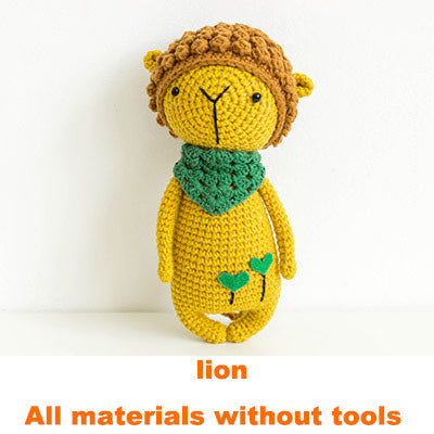 Lion doll hand-knitted