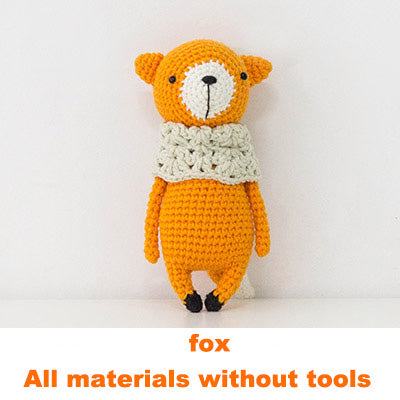 Fox doll hand-knitted