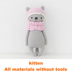 Kitten doll hand-knitted