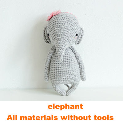 Elephant doll hand-knitted