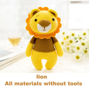 Lion woven cotton crochet diy hand-knitted cotton yarn doll material