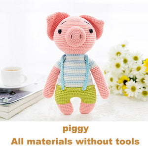 piggy woven cotton crochet diy hand-knitted cotton yarn doll material