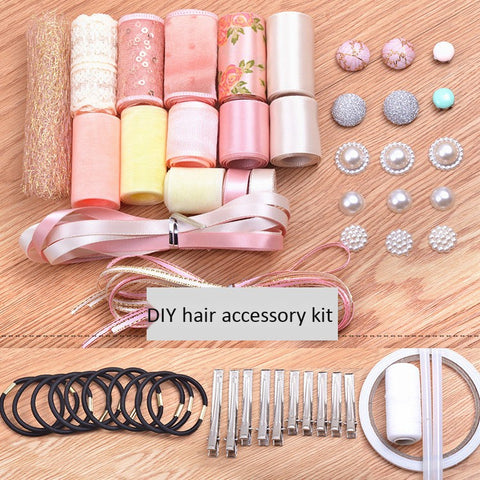 Korean pink handmade hair accessories