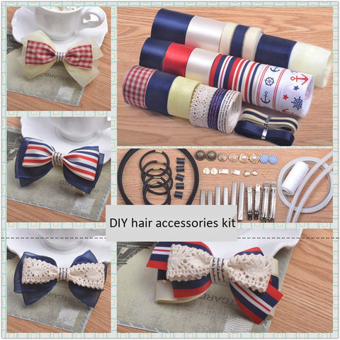 Navy B handmade hair accessories hairpin diy material accessories package