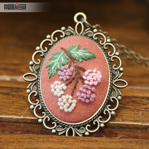 Luo Chen Finger embroidery diy handmade necklace female adult beginner material package