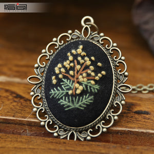 style Finger embroidery diy handmade necklace female adult beginner material package