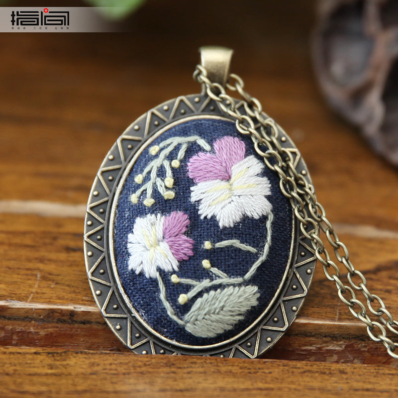Jinran Finger embroidery diy handmade necklace female adult beginner material package