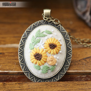 Chaoyang Finger embroidery diy handmade necklace female adult beginner material package