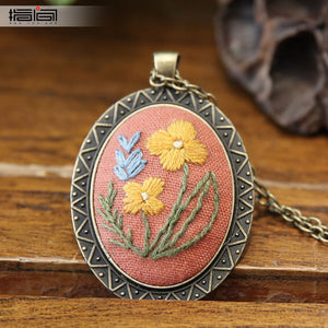 joy Finger embroidery diy handmade necklace female adult beginner material package