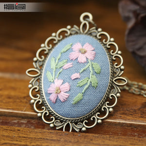 Xi Yan Finger embroidery diy handmade necklace female adult beginner material package