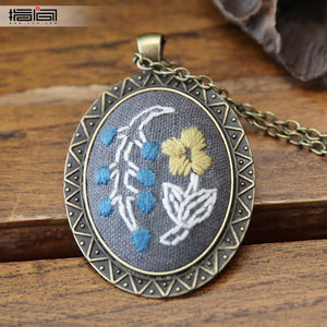 fleeting time Finger embroidery diy handmade necklace female adult beginner material package