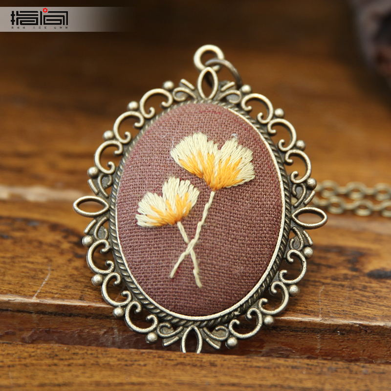 Fall Finger embroidery diy handmade necklace female adult beginner material package