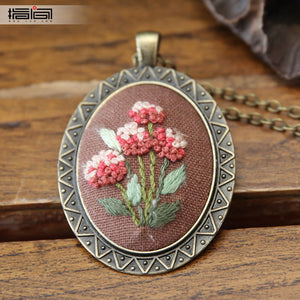 Warm air Finger embroidery diy handmade necklace female adult beginner material package