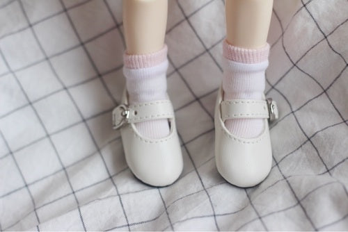 Men and women doll pu leather shoes flat shoes BJD, yosd 1/6 minutes imda3.0