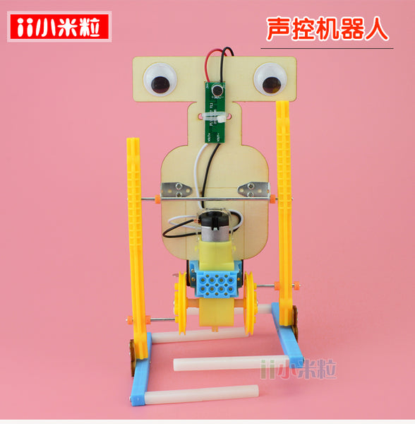 Technology small production electric homemade voice-activated robot boy handmade material