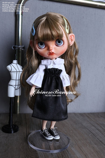 Neo blythe baby clothes satin skirt versatile