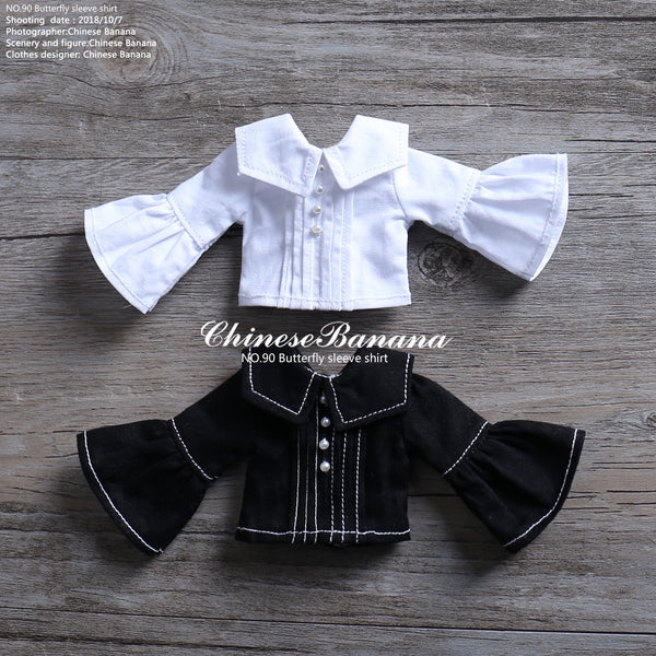 NEO blythe baby clothes big collar shirt, wild models