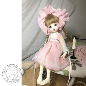 BJD baby clothes material package 1/3 1/4 1/6 1/8 ob11 small cloth MSD Han element dress set