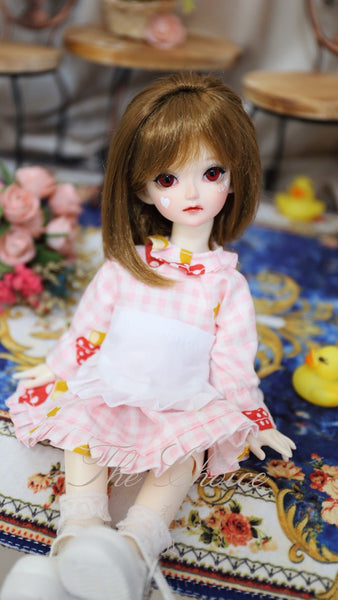 Bjd 1/4, 1/6, 1/3, msd doll clothes dress maid loaded Lolita