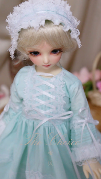 Bjd 1/4, 1/6, 1/3, msd doll clothes dress, ph style retro palace dress