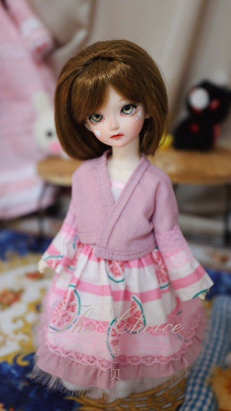 Bjd 1/4, 1/6, 1/3, msd doll clothes dress, cardigan and wind dress