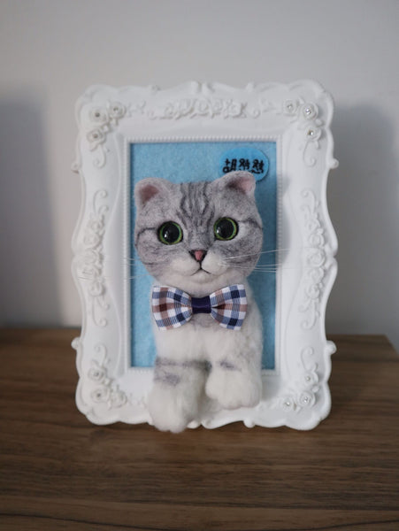 Customized hand made wool felt stereo simulation head half frame photo frame decoration