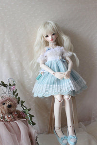 Xmya hand made 4 points bjd doll dress skirt