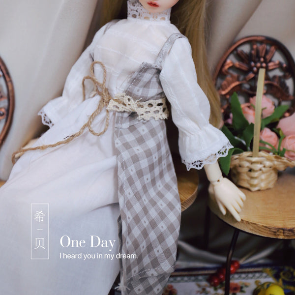 Bjd 1/4, 1/6, 1/3, msd doll clothes dress Vintage plaid dress