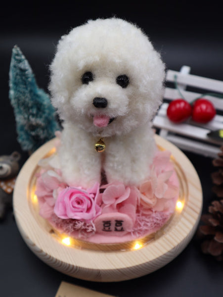 According to the photo dog custom wool felt hand made finished avatar decoration car hanging