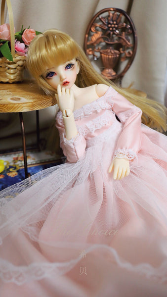 Bjd 1/4, 1/6, 1/3, msd doll clothes dress, court retro Mori dress