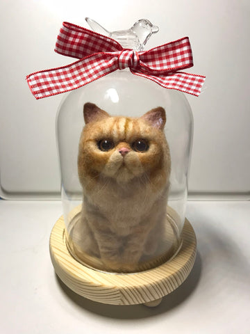 According to the photo Garfield custom wool felt handmade avatar decoration commemorative gift