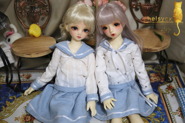 Bjd 1/4, 1/6, 1/3, msd doll clothes dress sailor suit volksmsd