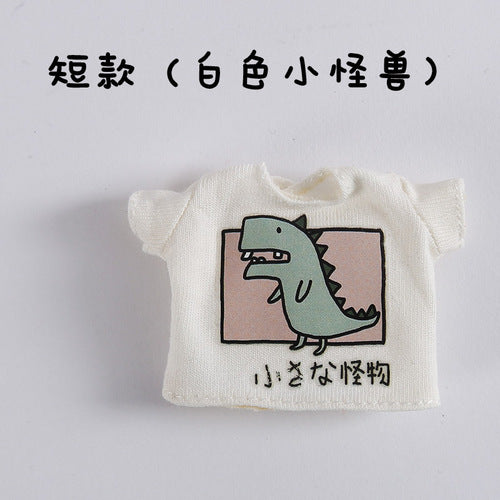 Ob11 baby clothes short-sleeved T-shirt girl head 8 points bjd 12 points bjd clothes knot GSC