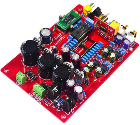 TDA1541 Fiber Coaxial Decoder Board (with USB, without 1541 IC)