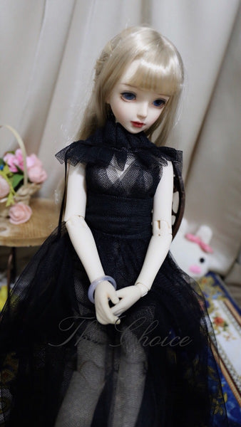 Bjd 1/4, 1/6, 1/3, msd doll clothes dress vintage gauze cloak