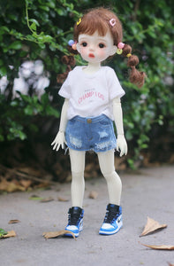 Bjd six points 1 / 6 night loli doll clothes daily short-sleeved