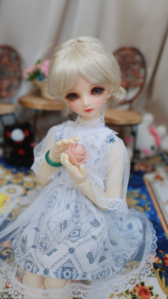 Bjd 1/4, 1/6, 1/3, msd doll clothes dress, on the retro Mori Lolita dress