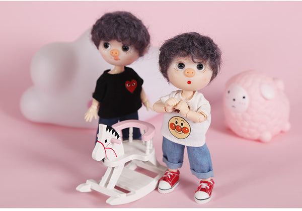 Ob11 baby clothes jeans wide leg pants clothes pants beauty knot pig GSC clay PICCODO 12 points