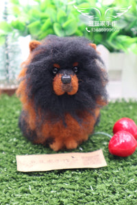 According to the photo dog custom wool felt hand made finished avatar decoration commemoration