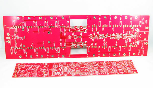 Fully balanced transistor pure post-amplifier circuit board 500Wx2, 6 boards