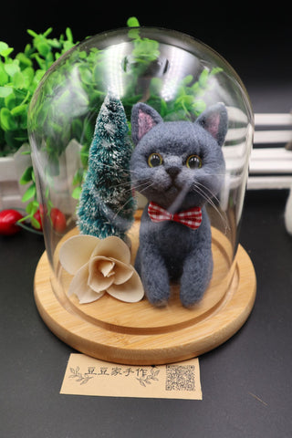 According to the photo cat custom wool felt handmade gift avatar simulation commemorative