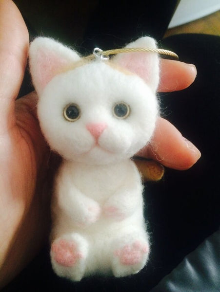 According to the photocustom wool felt handmade avatar simulation commemorative cat gift