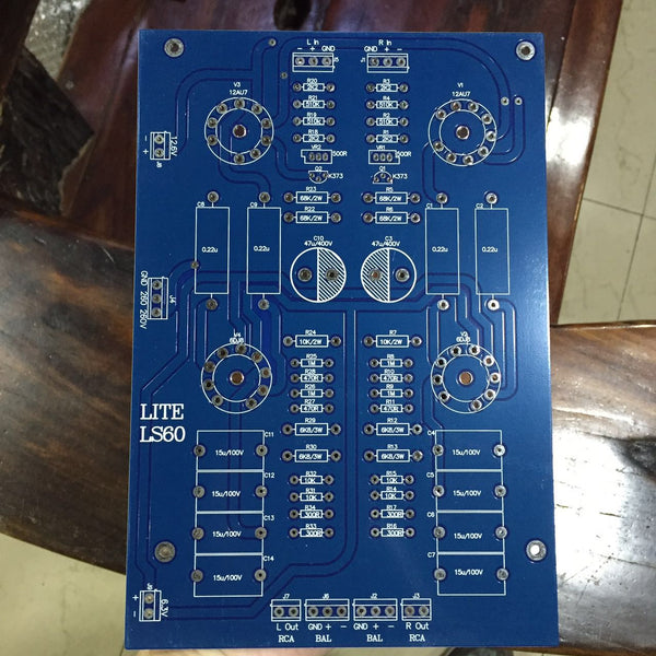 Hifi fully balanced tube preamplifier empty board PCB 12AU7×2, 6922×2 empty board, excluding parts