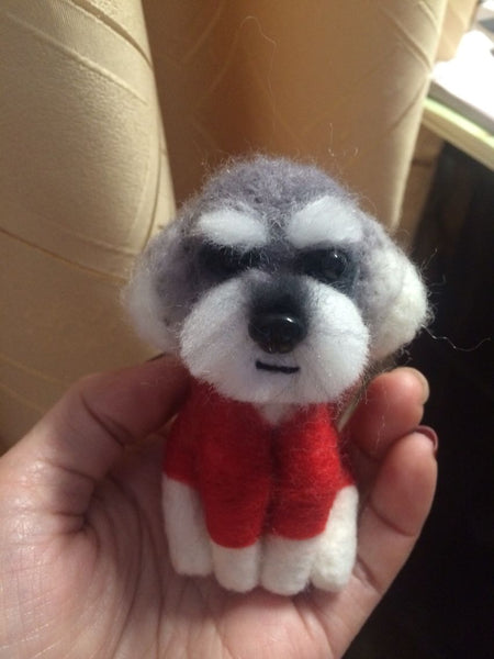 According to the photo dog custom gift wool felt handmade avatar simulation commemorative