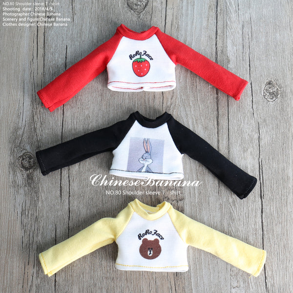 Neo blythe baby clothes raglan sleeve t-shirt
